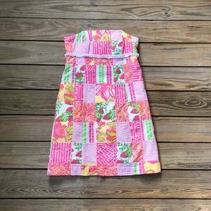 Lilly Pulitzer Local Patch Strapless Dress